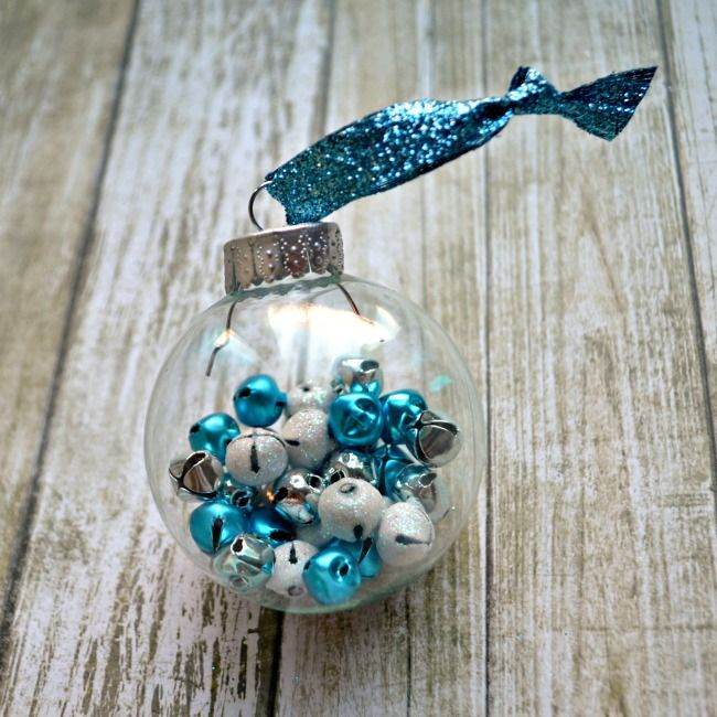 20 Elegantly Adorable Ways to Fill Clear Ornaments | The Happy Housie