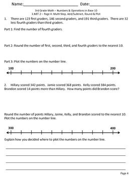 nbt nbt  common core  rounding addition and subtraction  nbt  common core  rounding addition and subtraction free practice  worksheets