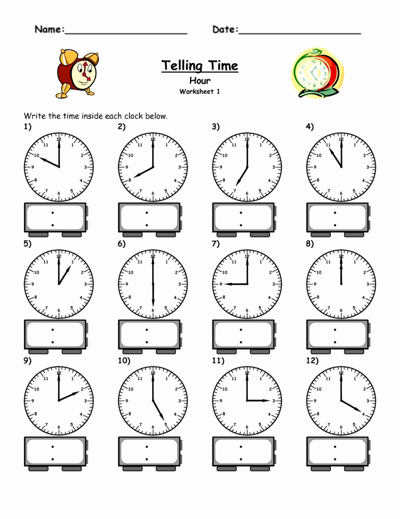 Time Worksheets For Kindergarten For Download Math Worksheet For Kids Time Worksheets Kids Math Worksheets Telling Time Worksheets