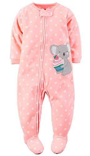 251019486 Carter's Baby-girls' 1 Pc Fleece Footed Blanket Sleeper Pajamas (18 Months,  Peach Koala)