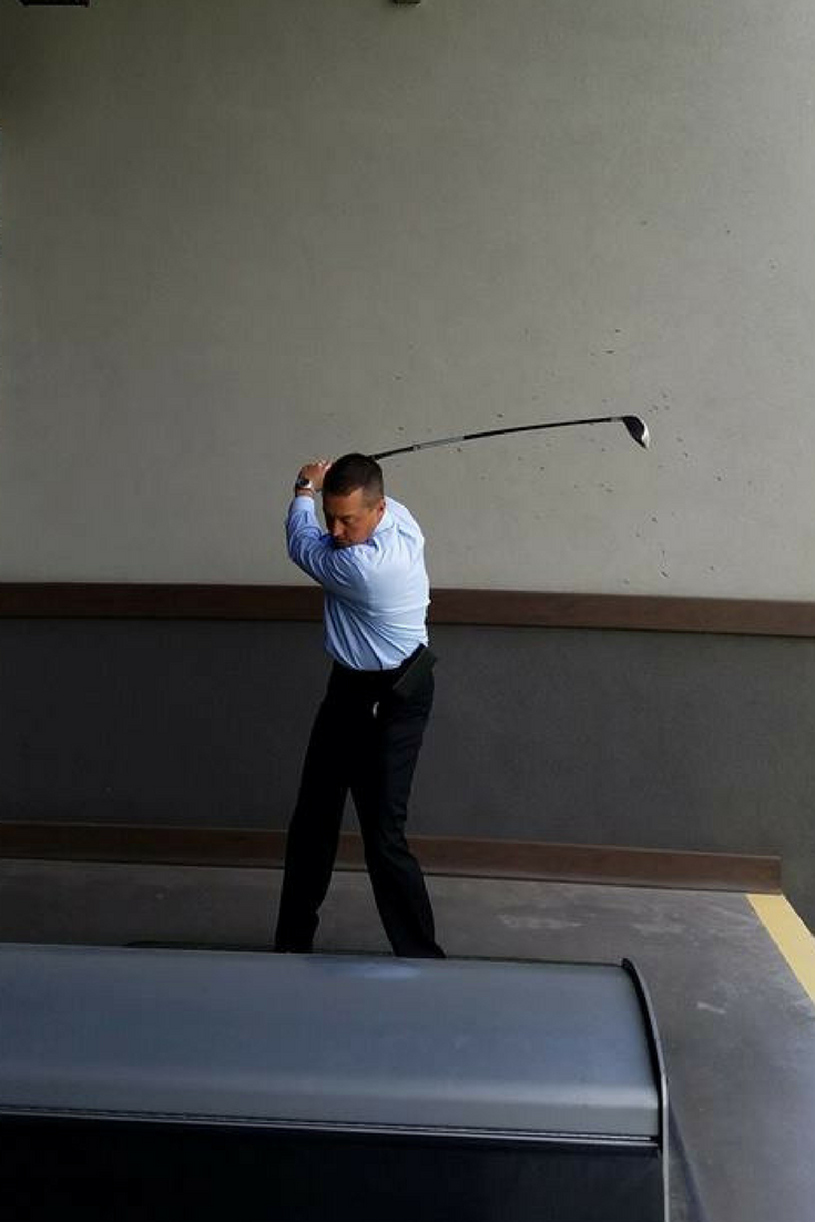 CEO Arnie Evdokimo demonstrates perfect form. DPAirLife
