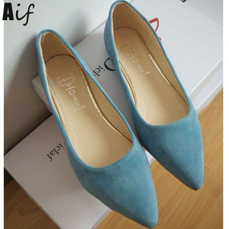 Zapatos planos de mujer de ballet pisos de gamuza con punta de gamuza Detalle de zapatos planos más el tamaño VuoBr7aLj
