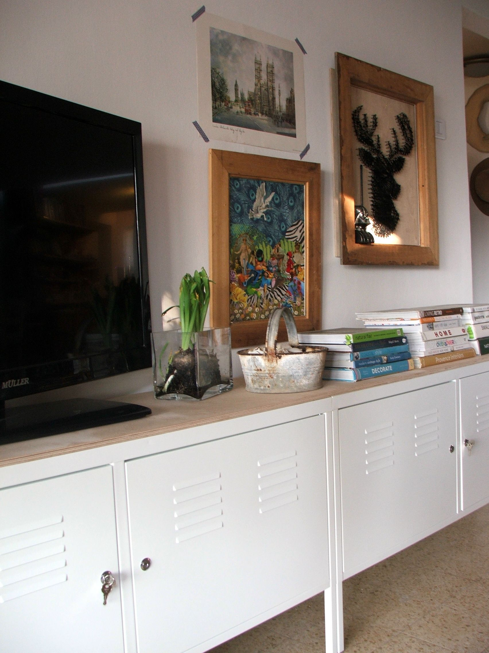 Ikea Ps Cabinets With Birch Board On Top Haus Deko Ikea Tv Mobel