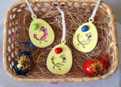 Подвеска 'Яйцо с цыпленком'   Christmas ornaments, Holiday ...