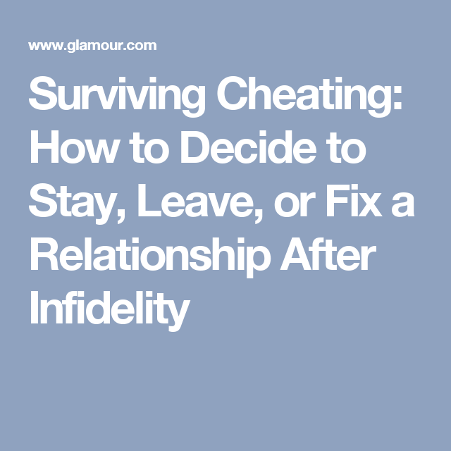 How to recover a relationship after cheating