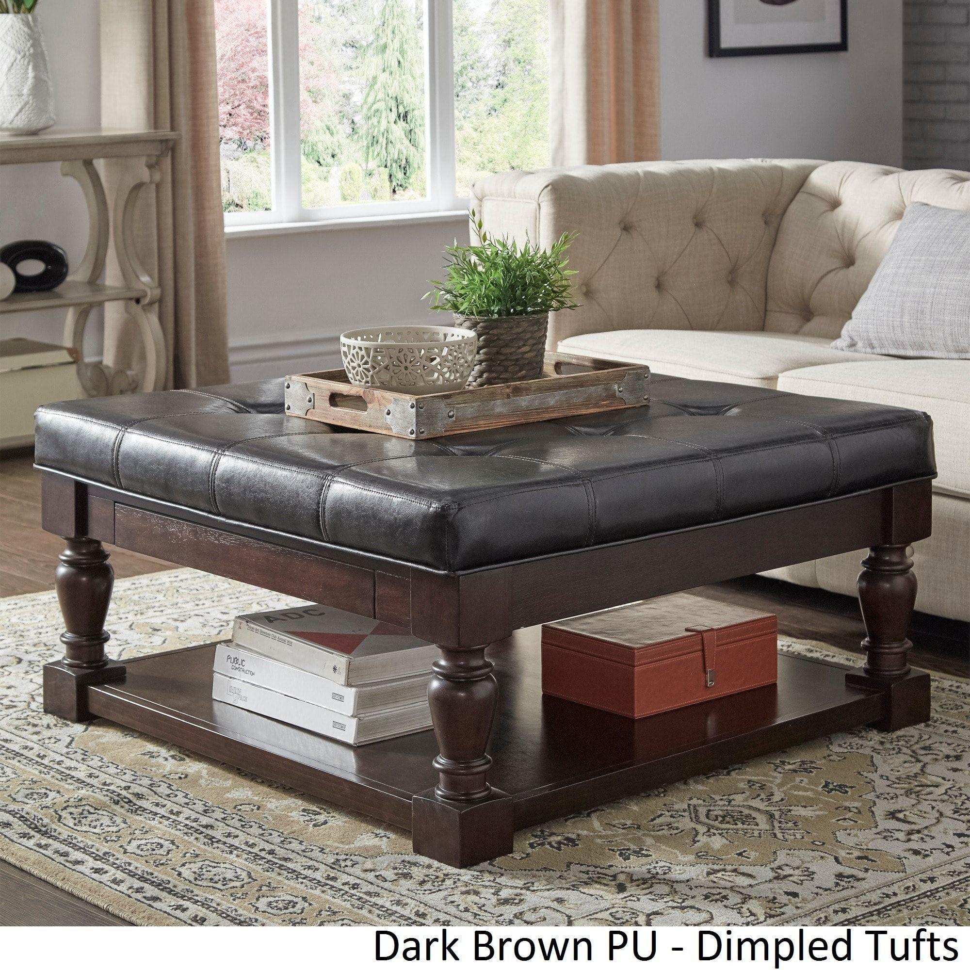 Superb Lennon Baluster Espresso Storage Ottoman Coffee Table By Machost Co Dining Chair Design Ideas Machostcouk