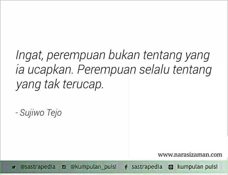 Tentang Yang Tak Terucap Sajak Sujiwo Tejo Word Pinterest