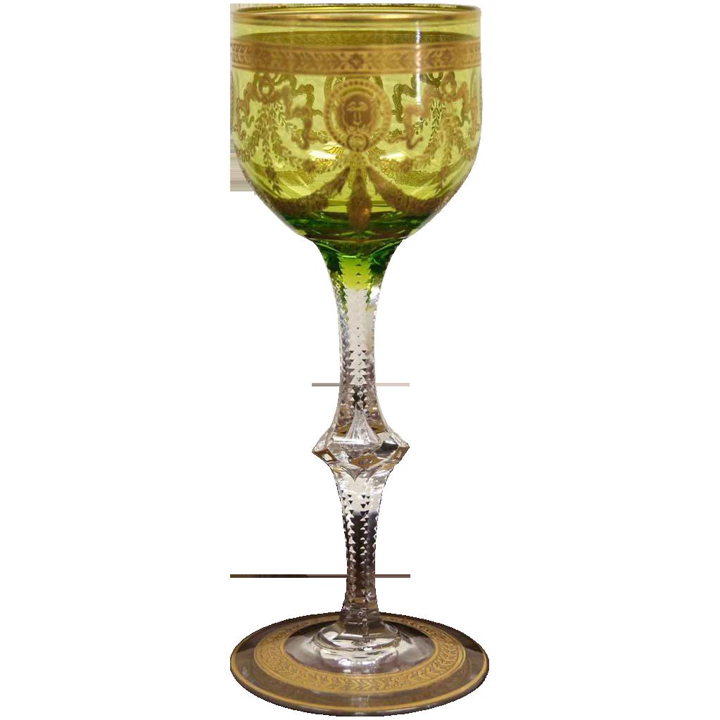Bohemian wine glasses moser bohemian green color gilt etched cut bohemian wine glasses moser bohemian green color gilt etched cut glass wine glass reviewsmspy