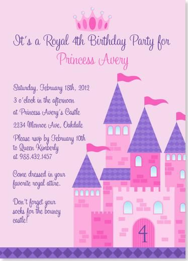 Birthday party invitations princess party castle birthday birthday party invitations princess party castle birthday invitation stopboris Image collections