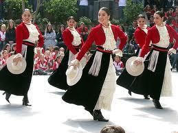 Vestido de huasa elegante chilena