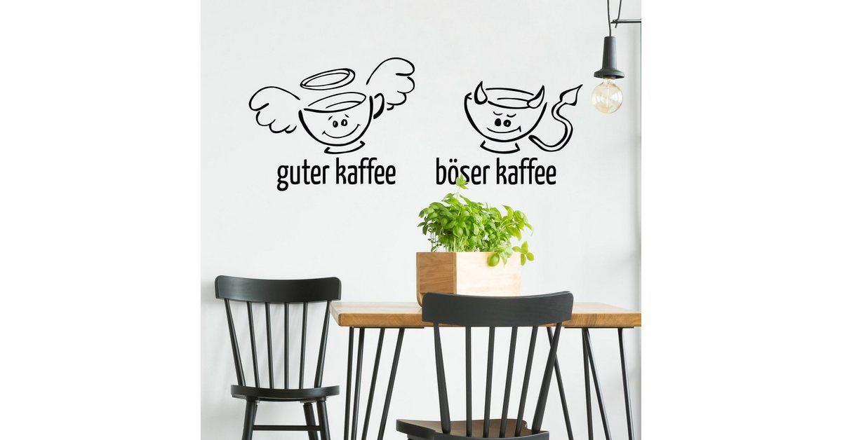 Bilderwelten Wandtattoo »Guter böser Kaffee« | OTTO