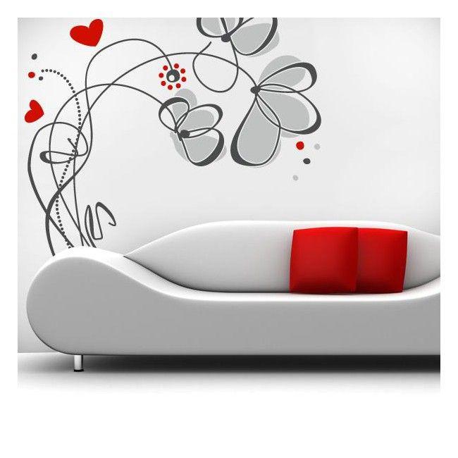 Buscas un diseño floral y romántico para la decoración de paredes