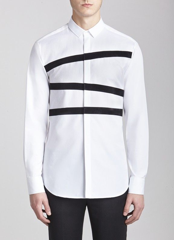 structtured shoulder shirt - White Neil Barrett Buy Cheap Low Price Discount Outlet lIwO7cwge