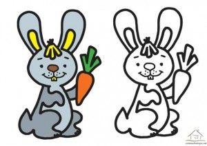 Tavşan Boyama çalışması Coloring Books Pinterest Coloring
