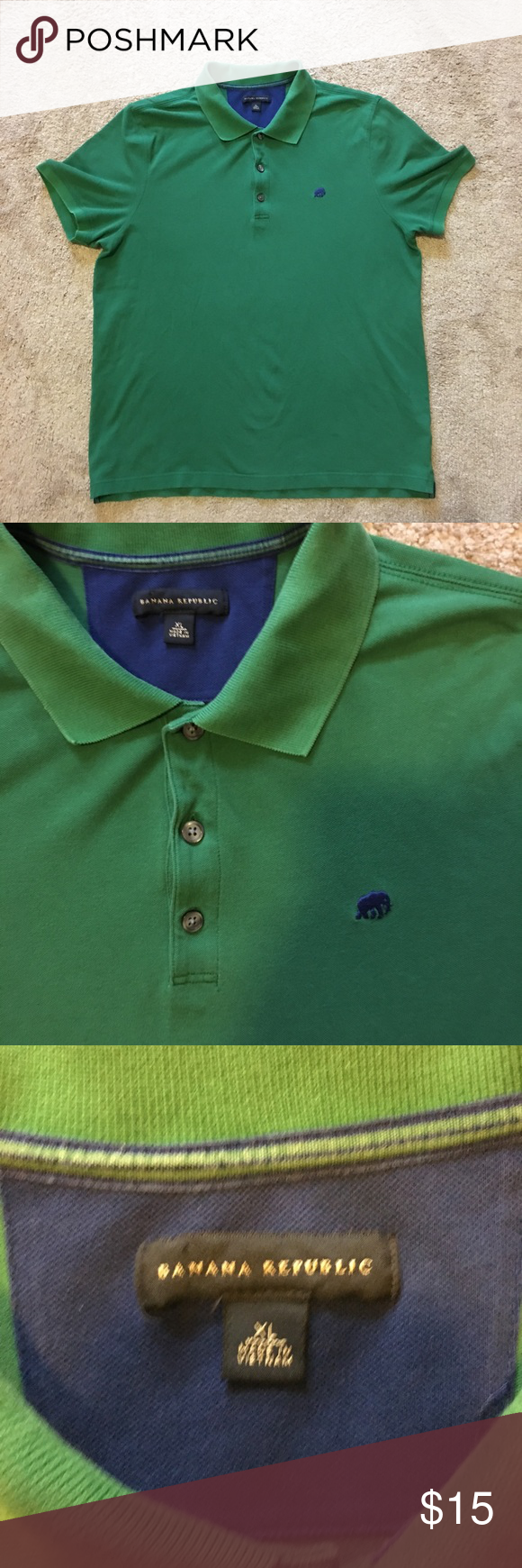 Banana Republic Polo Button Shirt Green In 2018 My Posh Picks