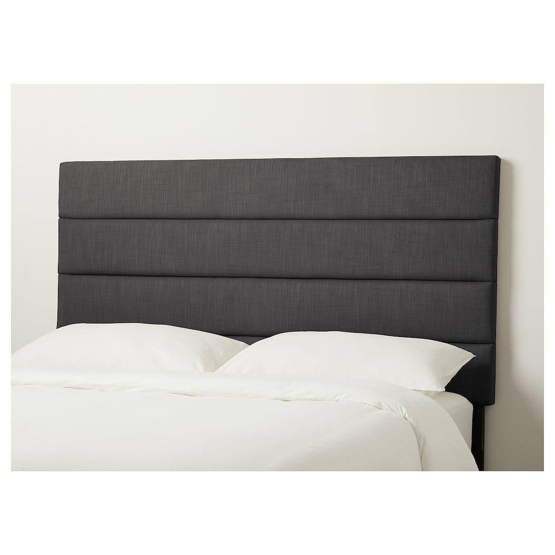 Ikea Eidsberg Headboard In 2020 Grey Headboard Bed Rustic