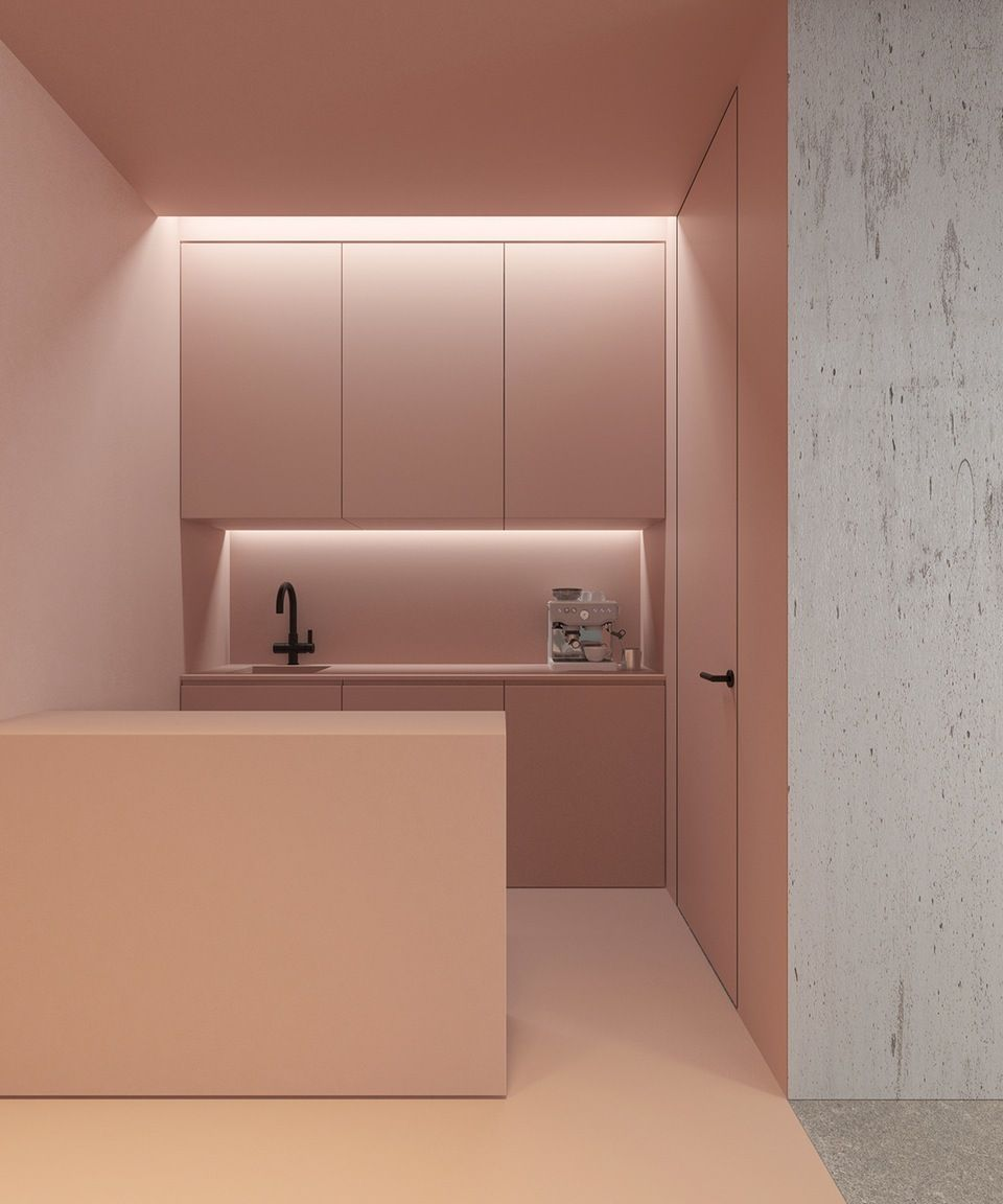 This Is A Very Brave Approach To Kitchen Design. We Love The Nude And  Minimal