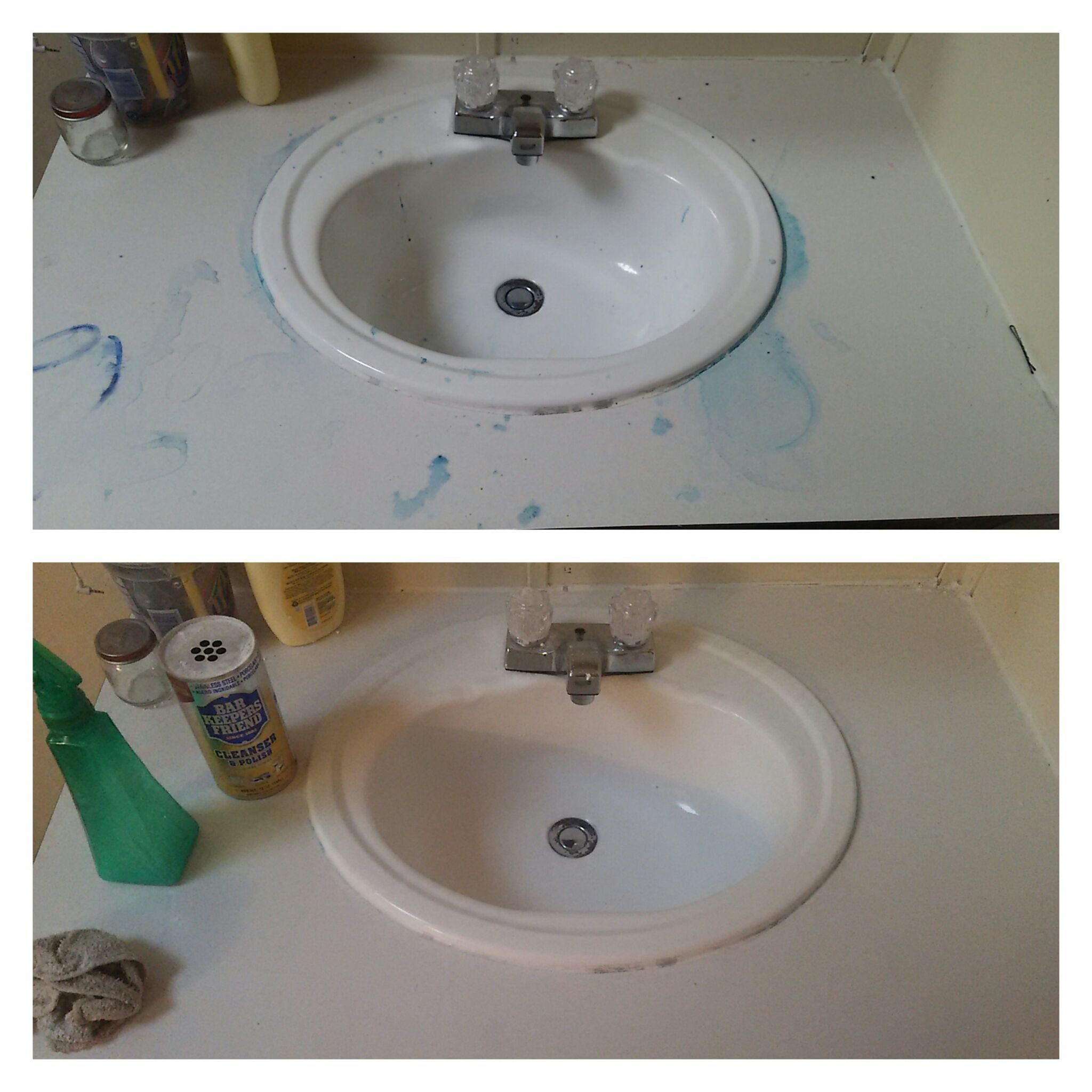 Remove Hair Dye From Sinks And Countertops With Bar Keepers Friend Hair Dye Removal Cleaning Dyed Hair
