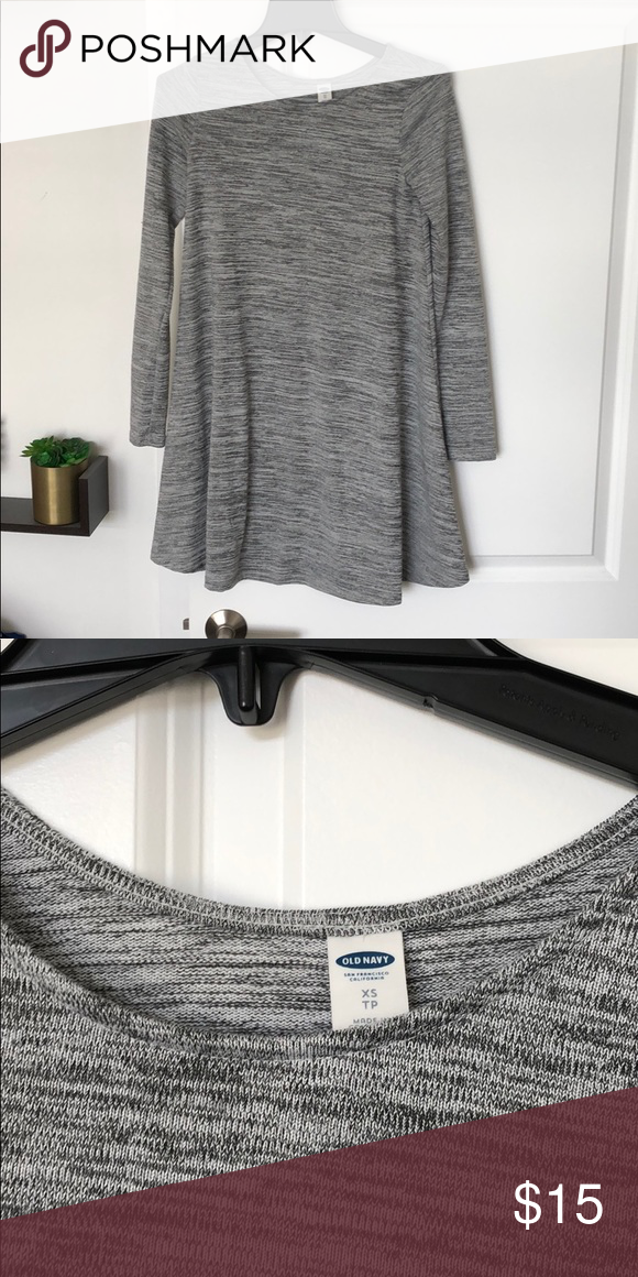 2e87c8d37de Old Navy Gray Swing Dress In good condition. Super soft. Old Navy Dresses  Long Sleeve