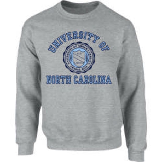 94090e513 UNC Student Stores - UNC Seal Crew Sweatshirt - Oxford   Things to ...