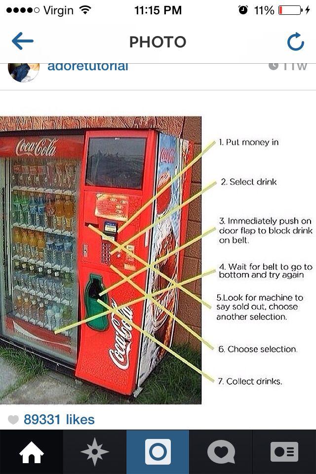Vending machine hack | Facts | Life hacks, Vending machine hack