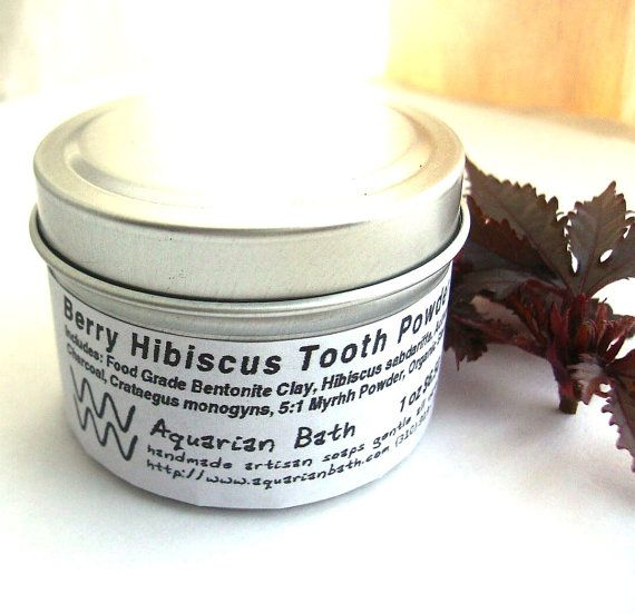 Berry Hibiscus Tooth Powder  A Natural Toothpaste by AquarianBath, $6.50