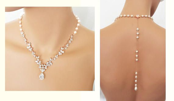 Pearl Crystal Necklace Ivory White Satin Pearl Beads AB Crystal 3 Strand Necklace Crystal Pearl Bridal Necklace Formal Necklace DD 563
