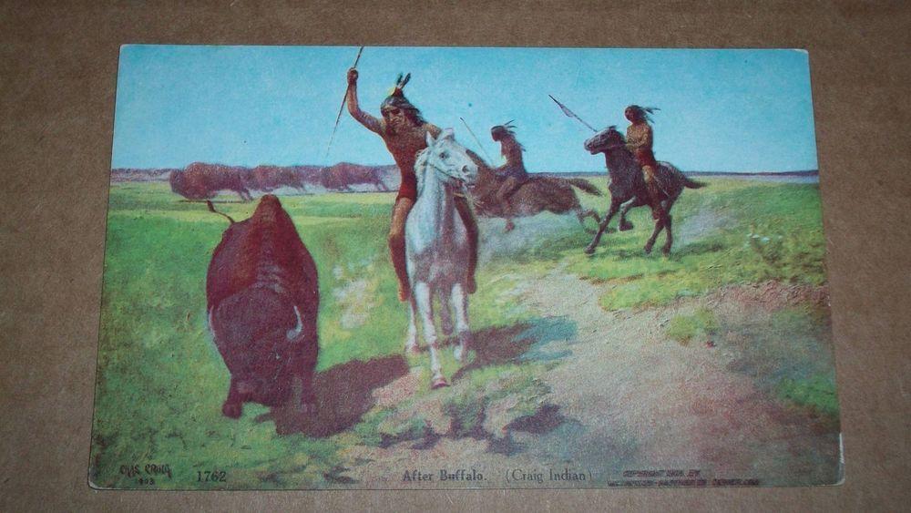 AFTER BUFFALO (CRAIG INDIAN) ,COPYRIGHT 1908  WILLIAMSON-HAFFNER CO DENVER