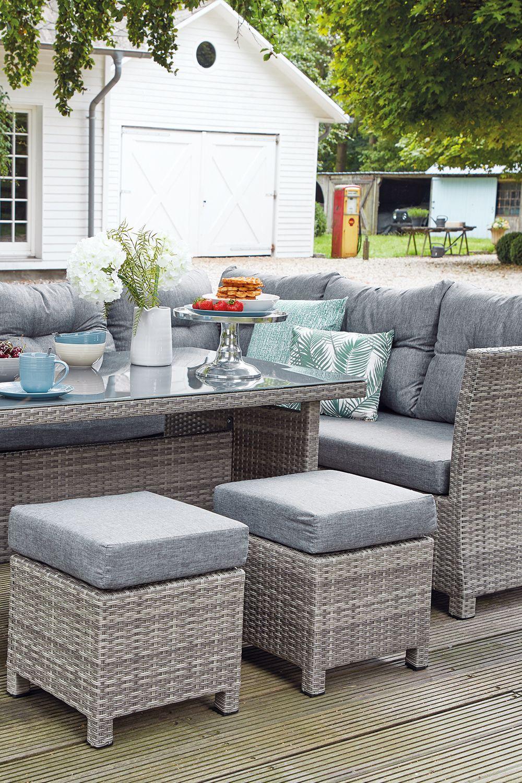 Gartengarnitur Tibera 5mm Anthrazit Schwarz Polyrattan Gartenmobel Lounge Gartenmobel Polyrattan