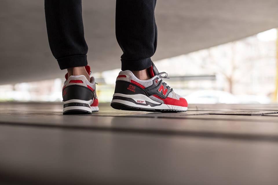 New Balance 530 Red Black   Sneakers   Sneaker bar, Sneakers
