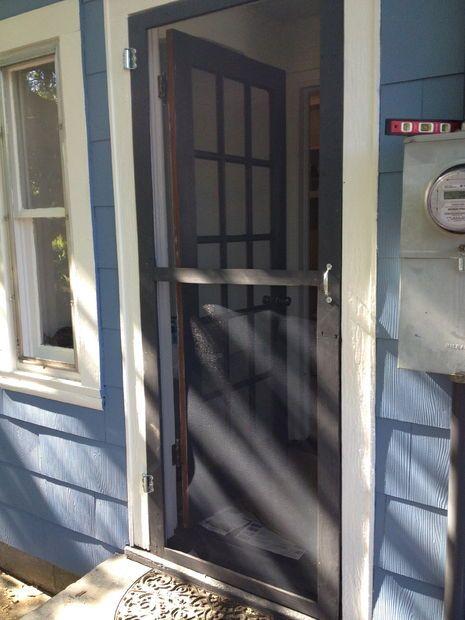 Pallet Screen Door   Diy screen door, Wood screen door ...