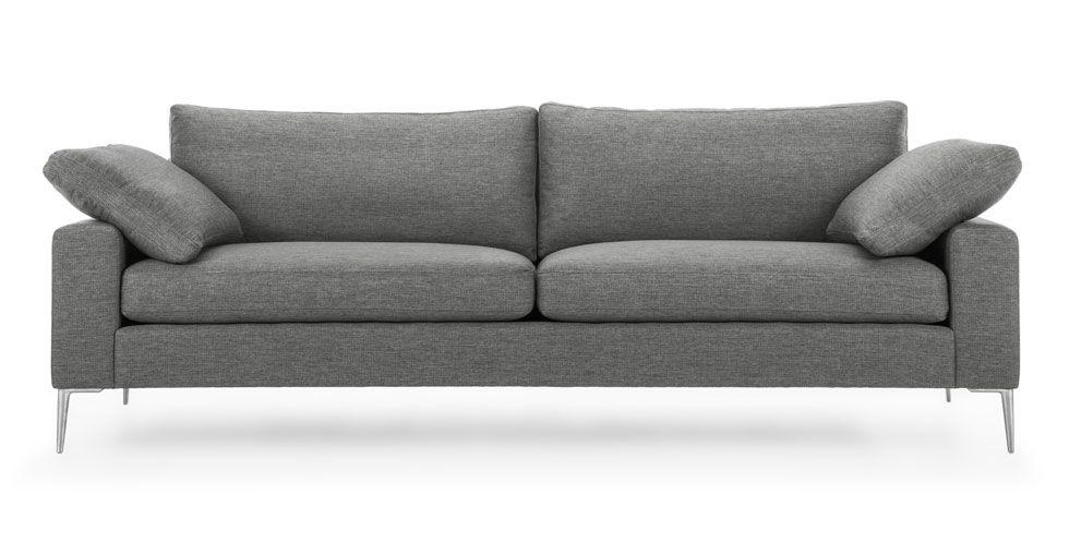 Nova gravel gray armchair gray sofascandinavian furnituremodern