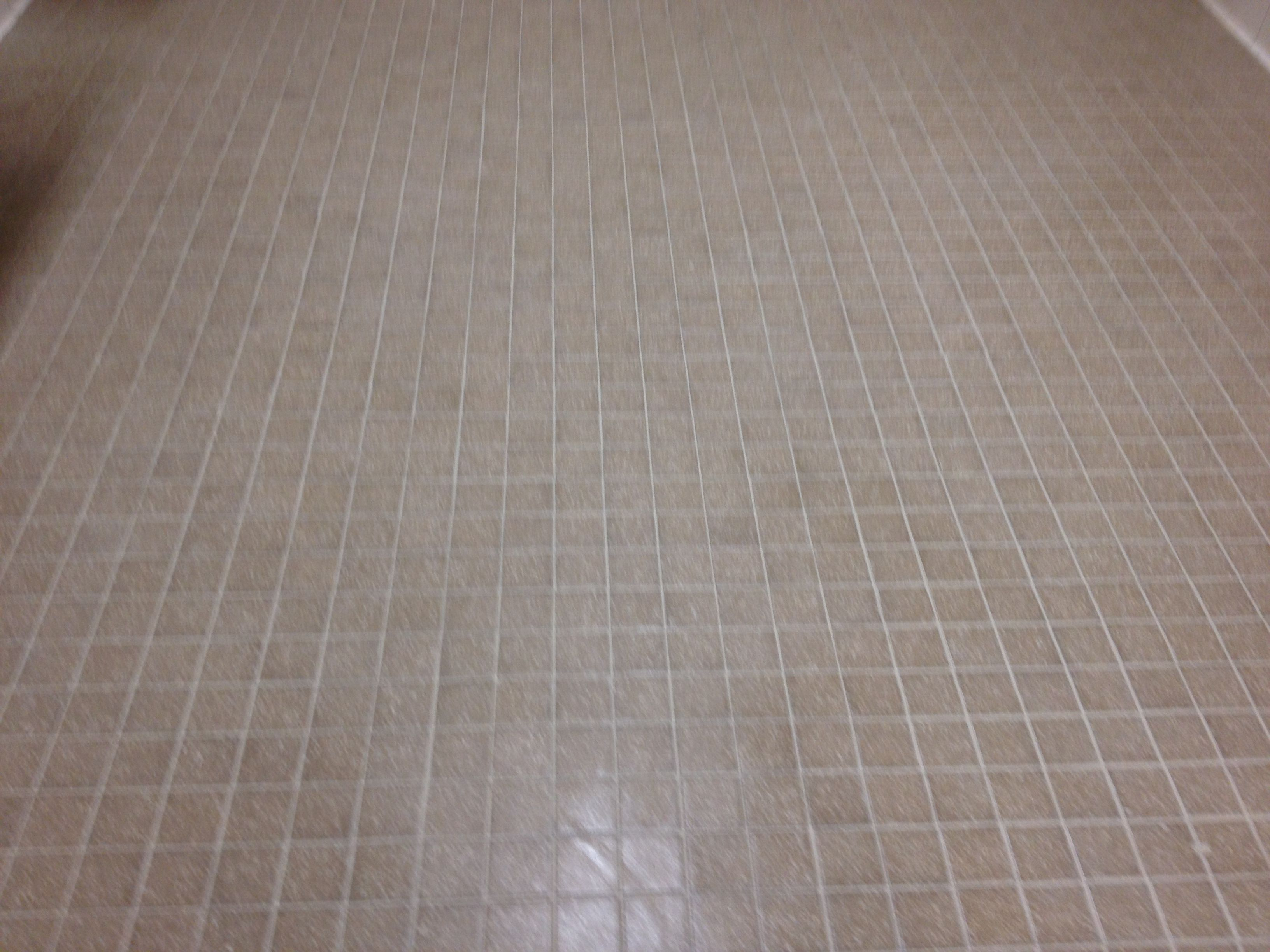 After cleaning, re-coloring grout, clear coating application | Tile ...
