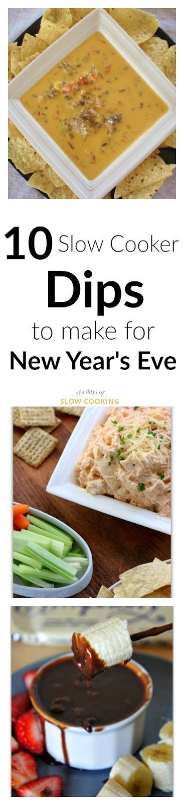 10 Slow Cooker Dips to Make for New Years Eve - 365 Days of Slow Cooking and Pressure Cooking