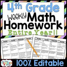 Need Spiral MATH HOMEWORK or MORNING WORK that will keep math concepts fresh all year? As Homework or Morning Work, this 100% editable, TOP-SELLING daily math review resource will do just that and more!
