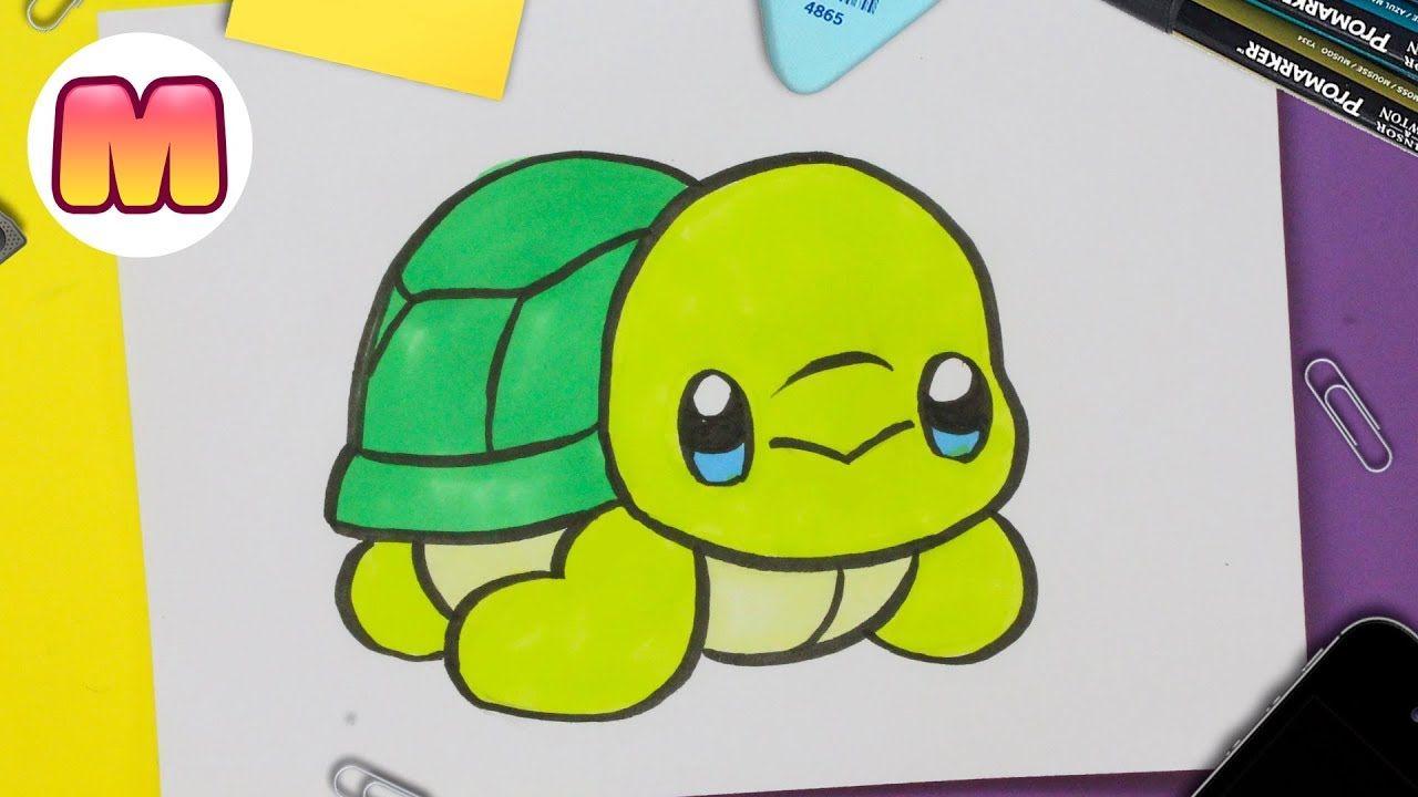 Te Ensenare Como Dibujar Y Colorear Una Adorable Tortuga Marina