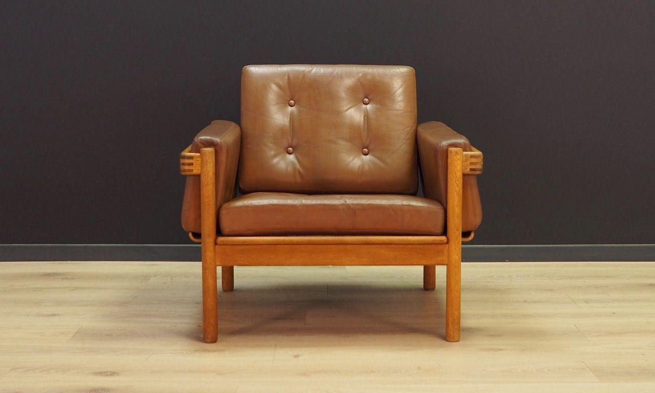 Moderner Ohrensessel Design Sessel Leder Holz Barcelona Sessel