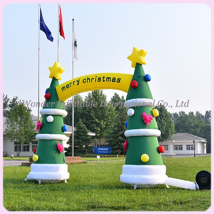 4 5mwide giant inflatable christmas arch inflatable christmas tree