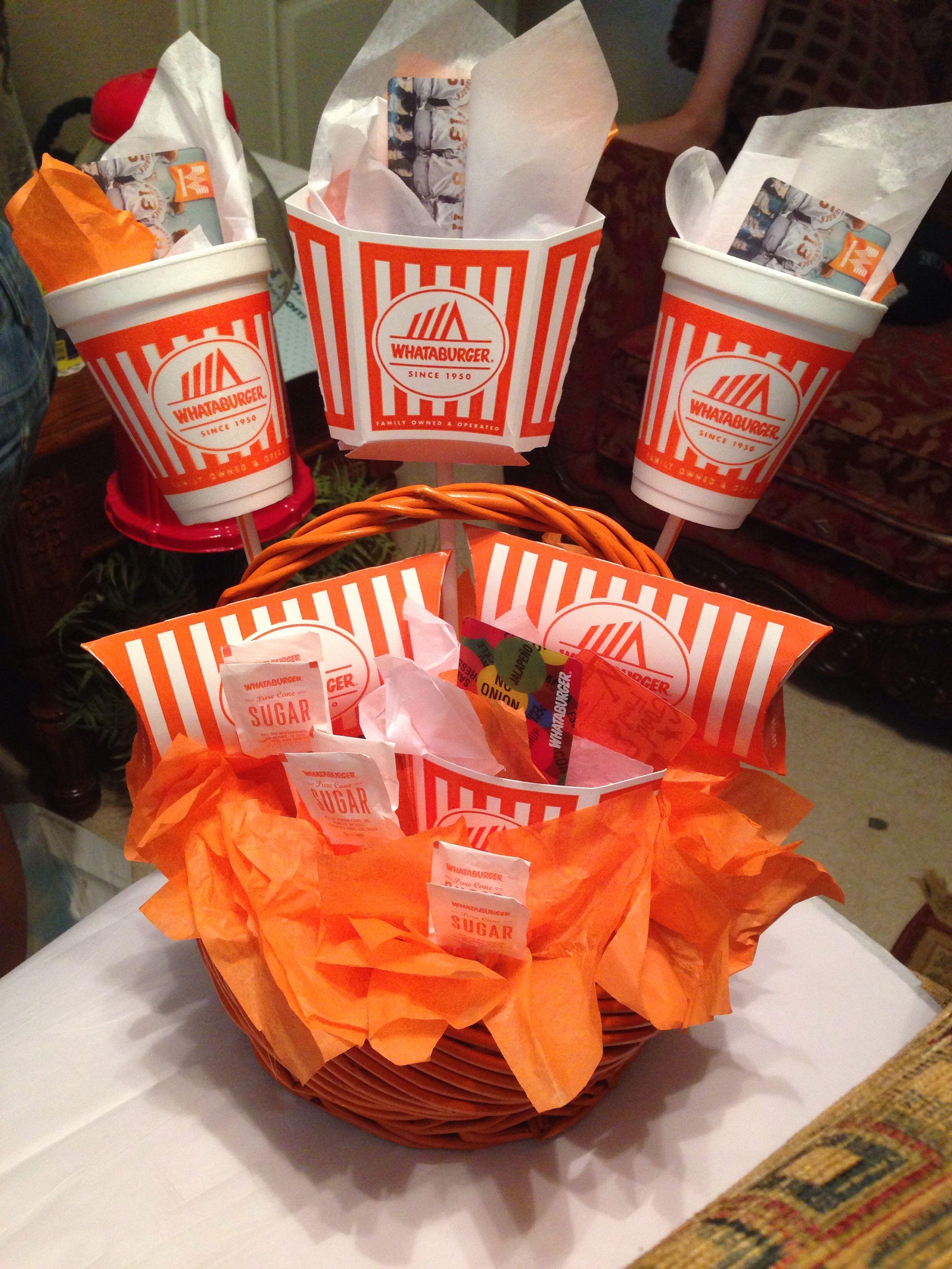 melinda s whataburger gift basket whataburger pinterest gift