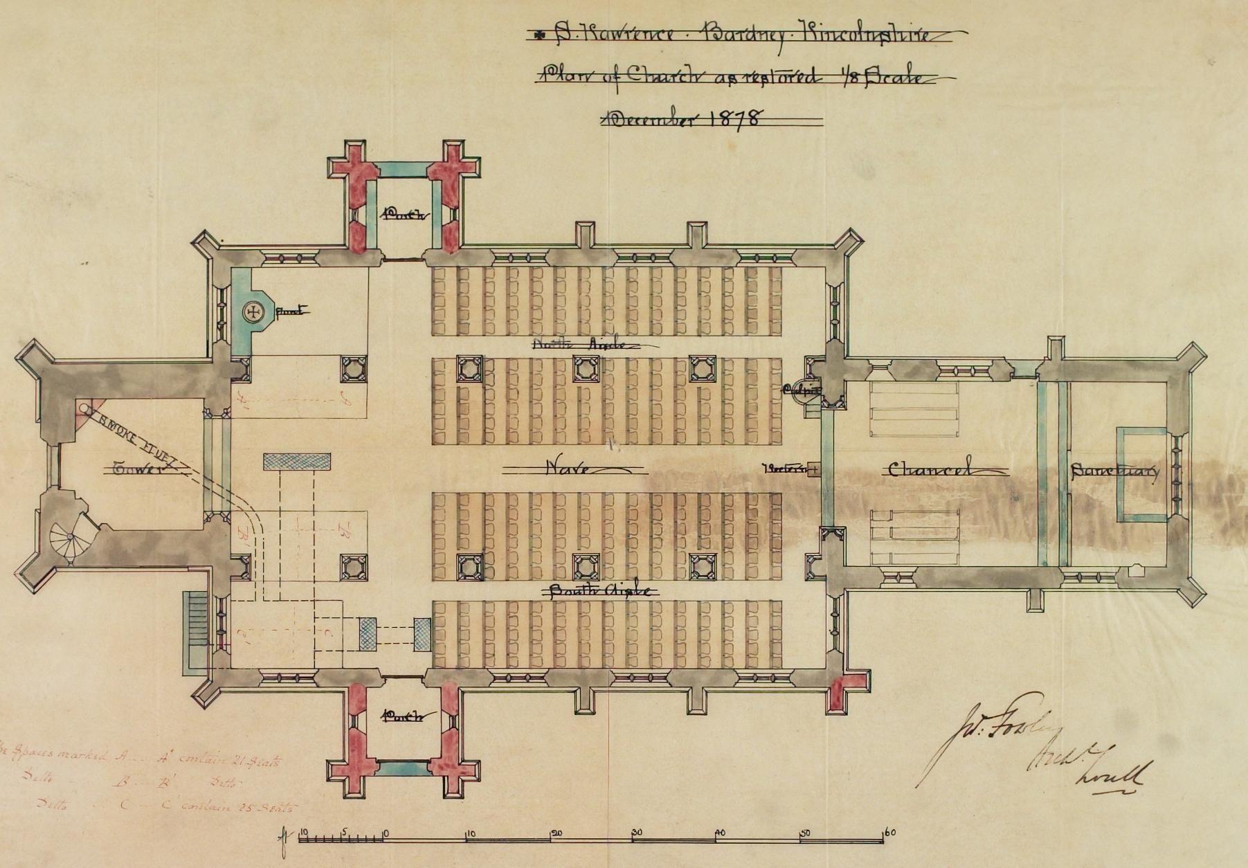 small churches of england 1878 bardney church plan churches of