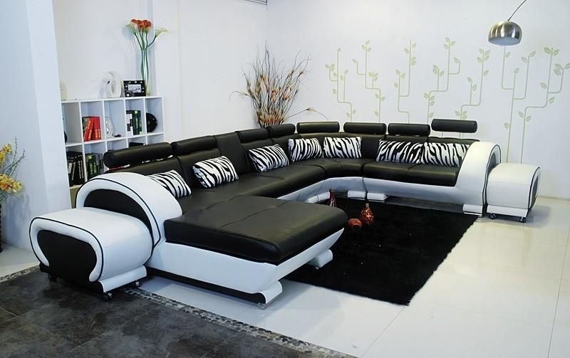 Unique Modern White Black Leather Sectional   Opulentitems.com From Opulent  Items. Saved To