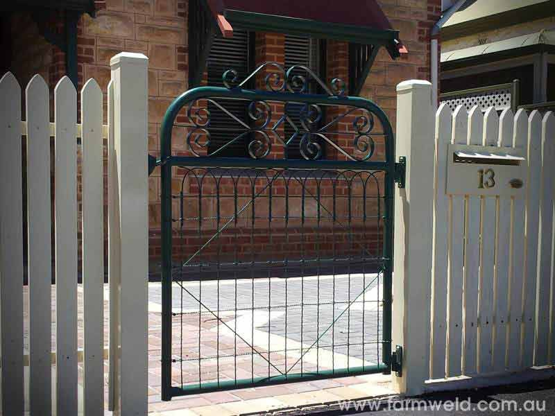 Kensington Pa Gate With Emu Wire And Ornamental Scrolls Adds Character To This Home Adelaide South Australia