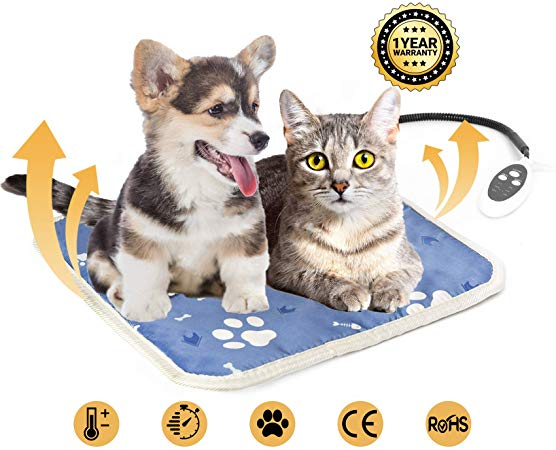 Amazon Com Heated Cat Bed Pet Heating Pad For Kittens Cats Puppies And Dogs Electric Dog Bed Heated Pad For Indoor Pets 17 X 17 Inches Heated Cat Bed Indoor