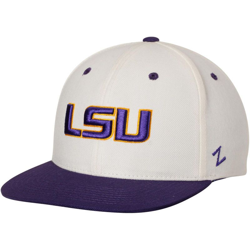 ea2919d9fce LSU Tigers Zephyr Z11 Adjustable Snapback Hat - Cream Purple ...
