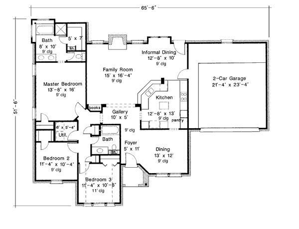 1800 Sq Foot Open Concept House Plans 1800 Square Feet