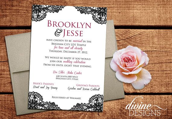 customizable ornate and elegant wedding announcements lds weddings