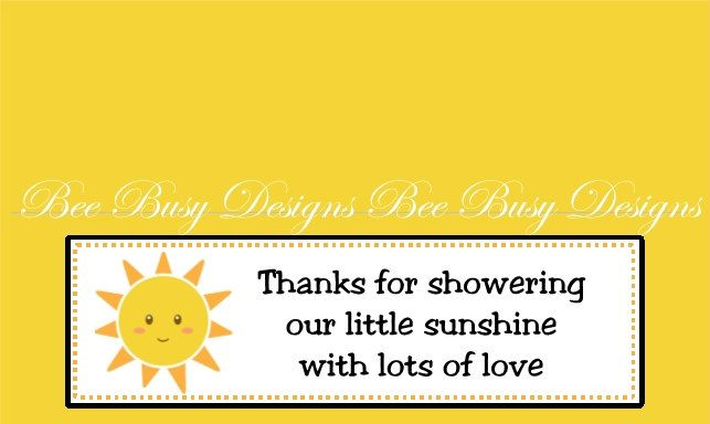 You Are My Sunshine Baby Shower Party Favor Bag Toppers. $4.00, Via Etsy.