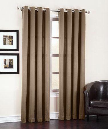 Look what I found on #zulily! Mocha Gramercy Grommet Room Darkening Curtain Panel #zulilyfinds