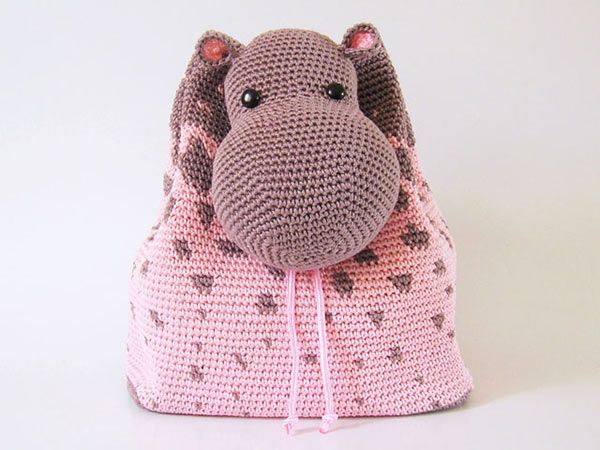 Hippo Backpack crochet pattern by Chabepatterns | Häckeln ...