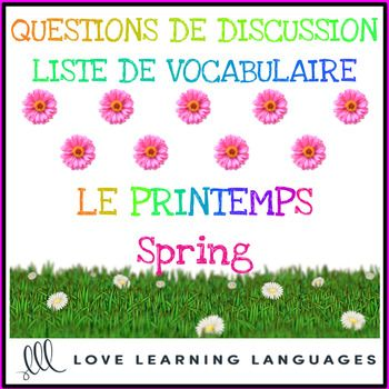 Advanced French conversation questions - Le printemps | TPT